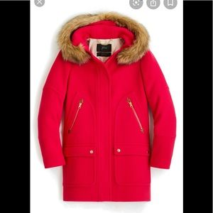 J Crew Winter faux fur Coat